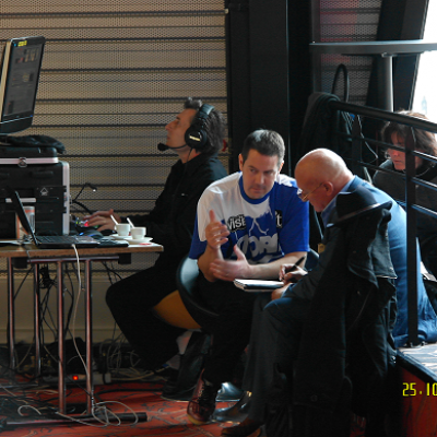 Stage 3 Bidone & Eric Fauville (QubicaAMF Representative)